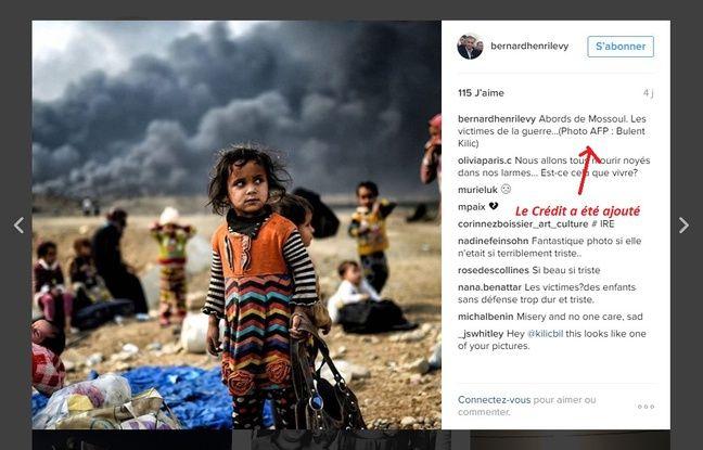 Capture du compte Instagram de BHL.