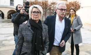 Les parents d'Alexia Daval, à Besançon le 7 décembre 2018.