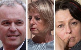Collage SIPA avec les députés LREM François de Rugy, Brigitte Bourguignon et Sophie Errante, candidats à la présidence de l'Assemblée nationale en juin 2017