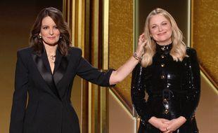 Les actrices Tina Fey et Amy Poehler, présentatrices de la 78e cérémonie des Golden Globes