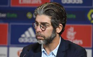 Juninho, ici le 1er septembre dernier lors de la présentation devant la presse du nouveau défenseur de l'OL Jérôme Boateng.