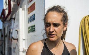 L'Allemande Carola Rackete sur le Sea-Watch 3, le 26 juin 2019.