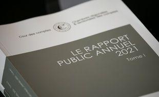 Pierre Moscovici President de la Cour des Comptes presente le rapport public annuel 2021.