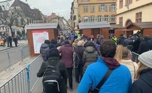 Contrôles à l'entrée du centre ville de Strasbourg, le 23 novembre 2019.
