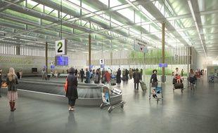 Image de synthèse du projet d'aérogare à Notre-Dame-des-Landes