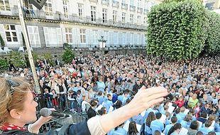 La chorale géante de Nantes en 2012.