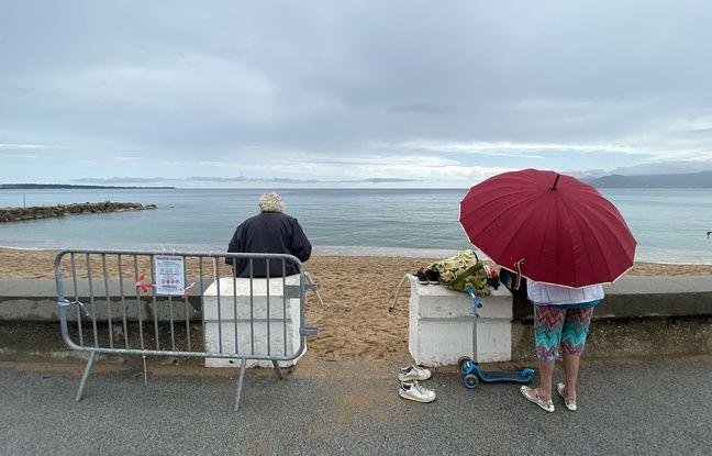 Déconfinement à Cannes : Le sable... et la pluie, retour (très) maussade sur les plages