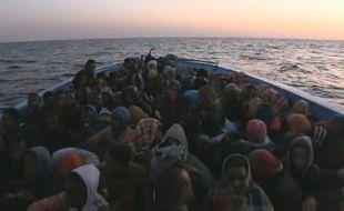 Capture d'écran du reportage «Clandestins: ils traversent l'enfer pour venir vivre en France», diffusé dans  «Zone interdite» sur M6.