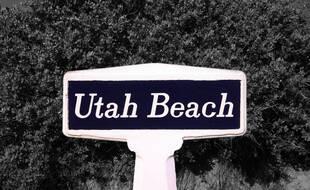 La borne se trouvait devant le musée d'Utah Beach.