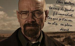 Rédigez votre déclaration d'amour à votre personnage de série télévisée préféré, ici, Walter White dans «Breaking Bad».