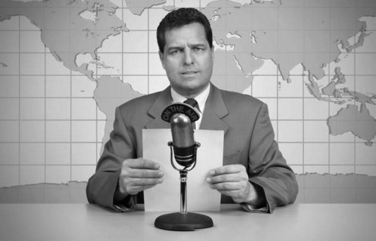 Illustration présentateur de télévision dans les années 50. – SUPERSTOCK / SIPA