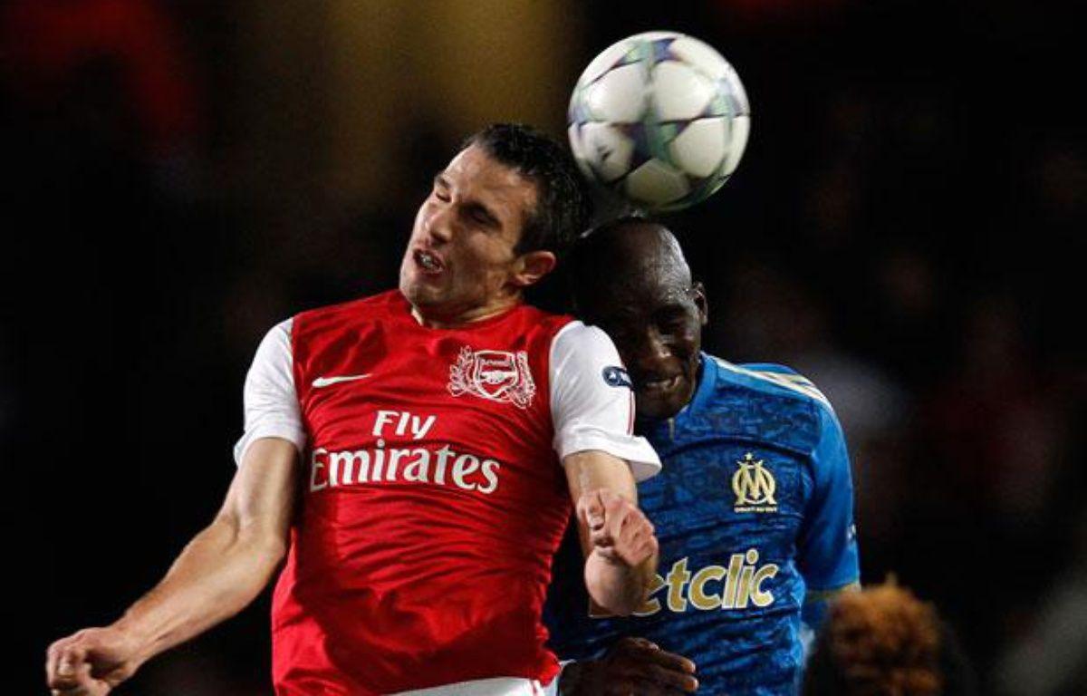 Le joueur d'Arsenal Robin Van Persie pendant un match de Ligue des champions contre Marseille, le 1er novembre 2011. – no credit
