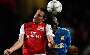 Le joueur d'Arsenal Robin Van Persie pendant un match de Ligue des champions contre Marseille, le 1er novembre 2011.