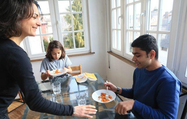 Abdul, 13 ans, accueilli chez Ariane, à Schiltigheim. Le 8 février 2019.