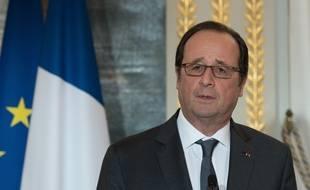 Le président François Hollande le 10 janvier 2016 à l'Elysée