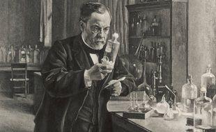 Louis Pasteur dans son laboratoire en 1885(illustration)