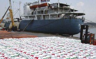 Un cargo nord-coréen dans un port de Corée du Sud en 2005.