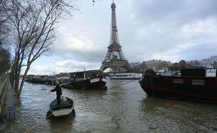 Vue de la Seine à Paris le 26 janvier 2018