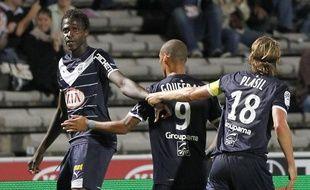 Les joueurs bordelais, lors d'un macth de Ligue1 contre Lille, le 20 septembre 2011.