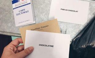 L'acte militant et drôle d'une adepte de la chocolatine lors du premier tour de la Présidentielle.