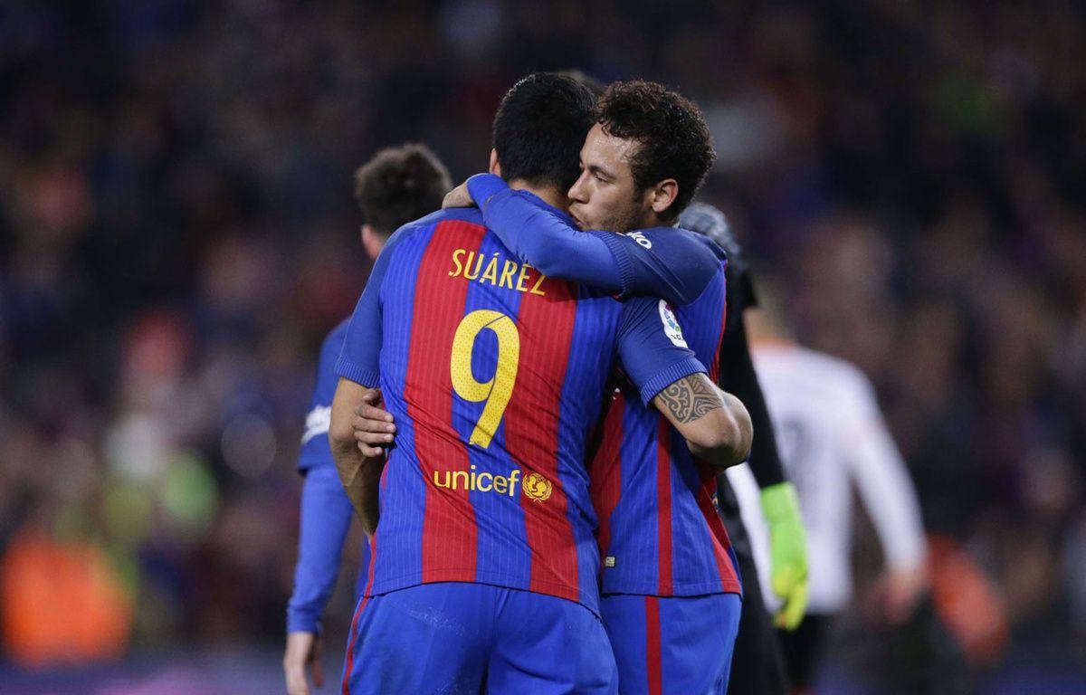 Neymar après sa passe décisive pour Suarez – SIPA