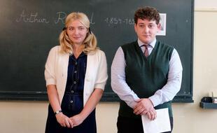 La brillante Annick (Lula Cotton-Frappier) et le sensible Pichon (Nathan Parent) dans la série « Mixte ».