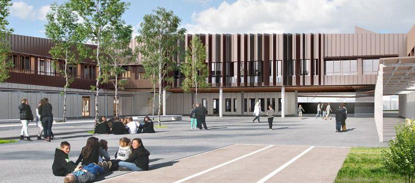 Le collège Jaques Ellul dans le quartier de la Bastide ouvrira en septembre 2021.