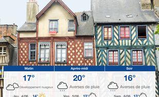Météo Rennes: Prévisions du mercredi 3 juin 2020