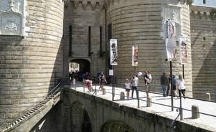 A Nantes le 20 aout 2014-Le chateau des ducs de bretagne a recu la visite de beaucoup de touristes cet ete
