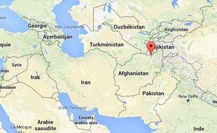 Carte de localisation de Kunduz, en Afghanistan.