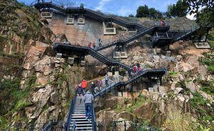 L'escalier géant du Jardin extraordinaire, le 25 octobre 2020 à Nantes.