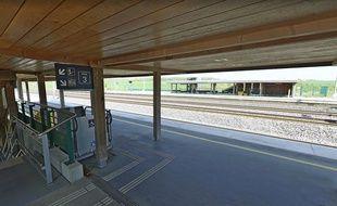 En gare de Meuse TGV. Capture d'écran Google Street view