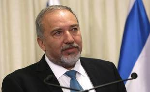 L'ultranationaliste israélien Avigdor Lieberman, le 25 mai 2016 à Jérusalem