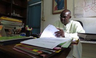 Joseph Miney Toloum, le maire de Goré, au Tchad, ville qui accueille des retournés Centrafricains, le 11 juin 2014.