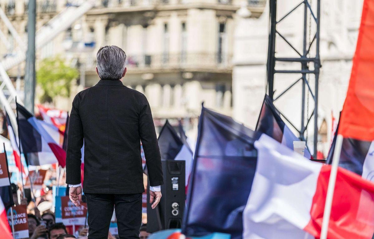 Jean-Luc Mélenchon en meeting à Marseille le 9 avril 2017. – LILIAN AUFFRET/SIPA