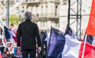 Jean-Luc Mélenchon en meeting à Marseille le 9 avril 2017.
