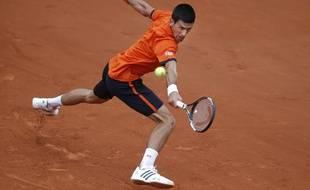 Novak Djokovic à Roland-Garros le 26 mai 2015.