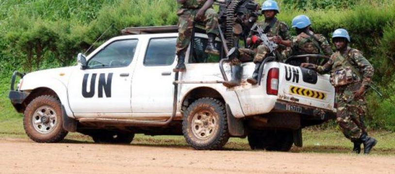 Des Casques bleus de la Monusco, le 23 octobre 2014 à Beni, en RDC