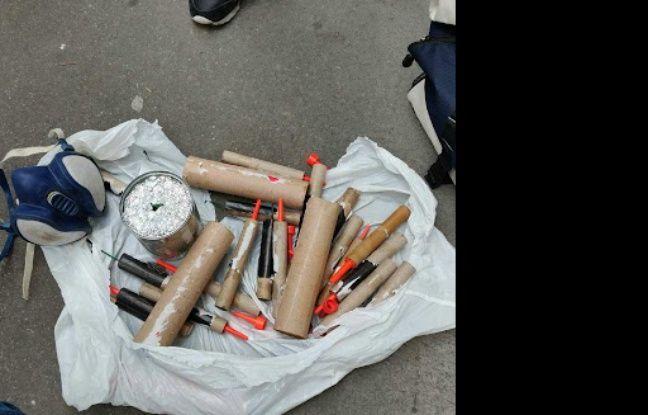 Les objets saisis ce samedi par les forces de l'ordre.