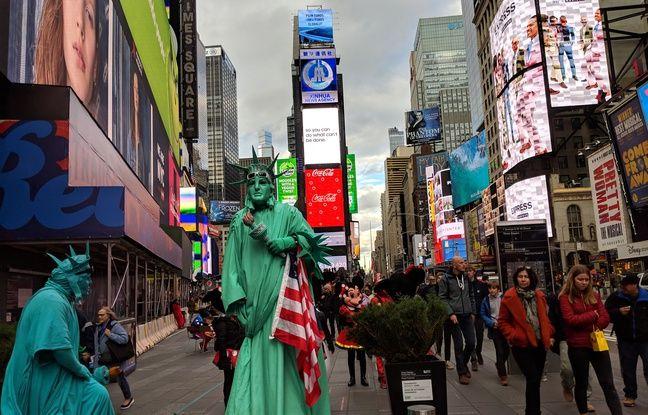 Times Square, à New York, le 29 octobre 2018.