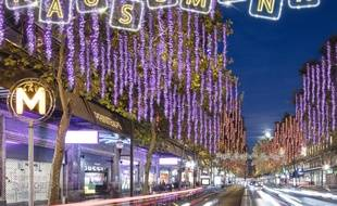 Les illuminations du boulevard Haussmann débutent le 1er décembre