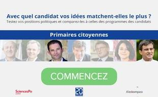 La Boussole présidentielle 2017, un outil inédit pour voir quel candidat à la primaire de la gauche correspond le mieux à vos opinions.