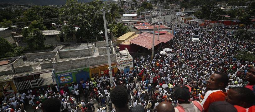 Dans les rues de Port-au-Prince, le 20 octobre 2019.