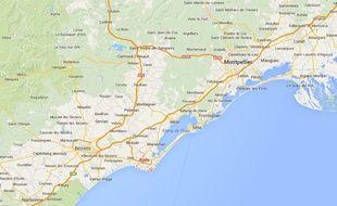 Google map de l'Hérault.