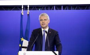 Laurent Wauquiez au QG parisien des Républicains, le 26 mars 2018.
