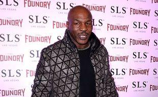Le boxeur Mike Tyson à Las Vegas
