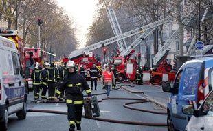 Un incendie a mobilisé les pompiers au 38 boulevard Sébastopol, le 20 décembre 2013.