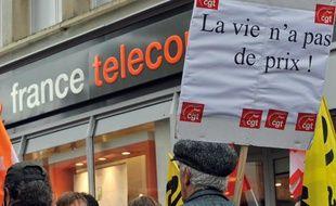 Manifestation des salariés de France Télécom à Caen le 6 octobre 2009