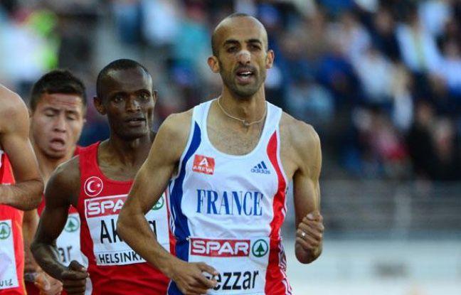 L'athlète français Nour-Eddine Gezzar, lors des championnats d'Europe d'Helsinki, le 29 juin 2012.