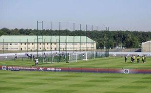 Le PSG à l'entraînement au Camp des Loges, en août 2009.